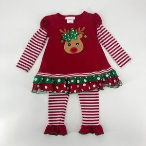 Size 24 Months Reindeer Christmas Outfit